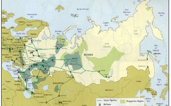 Основные нефтяные бассейны